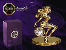 4485-9G Gold Virgin Virgo Swarovski Stones Kristall 24 Carat Crystal 7,6 Cm
