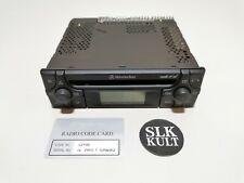 Original Mercedes SLK r170 audio 10 CD a1708200386 radio CD con código mf2910