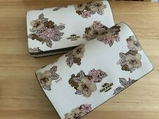 NWT Coach Hayden  Floral Print Foldover Crossbody Clutch Leather Bag