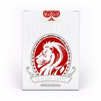 David Blaine White Lions Playing Cards Official Red 2018 Tour Edition