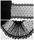 """5.5"""" 1Y Embroidered Floral Tulle Lace Trim Pure Black Sweet Sadness Elegant"""
