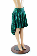 LARGE Green Mermaid/Dragon Scale Holographic Sparkly Hi-Lo Skirt Ready To Ship!