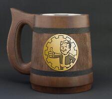 Fallout Vault Boy Wooden Mug Fallout Gamer Gift Pip Boy Video Game Wedding