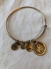 Alex and Ani Letter E Charm Bangle Silver Bracelet 2013