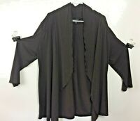 Investments Women's Plus Size Brown Long Sleeve Kimono Top - Size XL