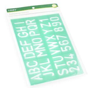 Linex 30mm Lettrage Pochoir - Alphabet Et Chiffres Vert - Simple