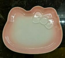 Limited Le Creuset Sanrio Hello Kitty Face Plate Stoneware Powder Pink NIB