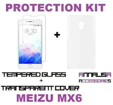 KIT COVER + PELLICOLA VETRO TEMPERATO MEIZU MX6 CUSTODIA CASE + TEMPERED GLASS
