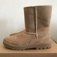 UGG Womens Ultra Short Revival Boots Sand Size 8 Warm Winter Sheepskin 52250