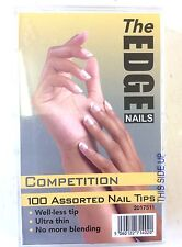 THE EDGE COMPETITION NATURAL WELL-LESS NAIL TIPS BOX OF 100 OFFICIAL STOCKISTS