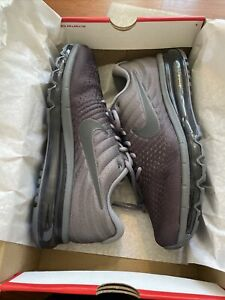 Nike Air Max Mens 2017 Cool Grey/Anthracite-Dark Grey Size 10.5 MSRP $190