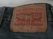 Levi's 569 - Loose Fit Blue Jeans - Men Size 40 x 32