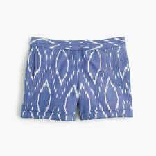 J.Crew Cotton Short in Sunfaded Ikat Size 00 NEW WITH TAGS Blue