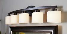 allen + roth 5-Light Merington Aged Bronze Standard Bathroom Vanity Light