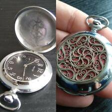 idea regalo orologio Russo da tasca vintage USSR Molnija Cal.SU meccanico 50MM