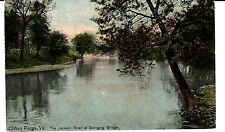 Early 1900's Jackson River at Swinging Bridge in Clifton Forge, VA Virginia PC