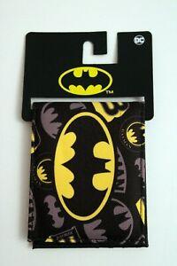 Batman Logo Wallet by Bioworld DC Black/Grey/Yellow