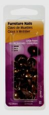 New! Hillman Round 7/16 in. L Furniture Nail Smooth 25 pc. Bronze 122686