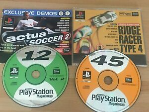 2 x Official Sony Playstation One  1 Magazine Game Demo Disc 12  & 45