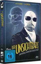 Der Unsichtbare - Universal-Monster-Collection, 6 DVD Set NEU + OVP!