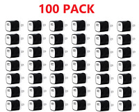 100x Black 1A USB Power Adapter Home Wall Charger US Plug For iPhone Samsung LG