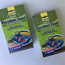 2 Boxes Tetra Pond Vacation Food Slow Release