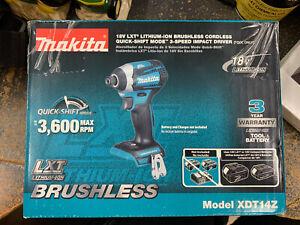 Makita XDT14Z 18V Cordless Impact Driver (Tool Only)