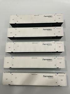 Athearn Ready to Roll HO scale Ferromex 53' Container Lot