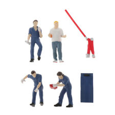 1:43 Scale Painted Model Maintance Worker People Figures Resin Character B