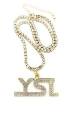 "New Young Stunna Life Pendant With 18"" Rhinestone Necklace"