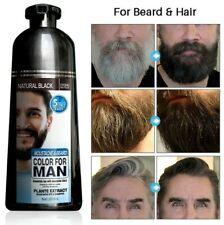Permanent Beard Hair Dye Shampoo For Men Long Lasting Natural Black Color 200ml