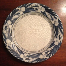 RARE ANTIQUE EARLY 20TH C DEDHAM POTTERY IRIS BREAKFAST PLATE MAUDE DAVENPORT
