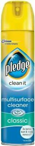 Pledge Clean It Multi Surface Polish Cleaner Classic 250ml - Yellow/Blue