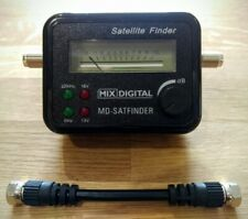 More details for mix digital satellite finder signal meter with patch lead