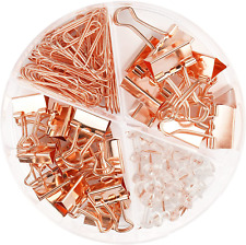 New Listing97 Pcs Office Supplies For Women Paper Clips Binder Clips And Push Pins Set Us