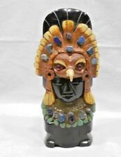 Obsidian Aztec Figurine With Headdress