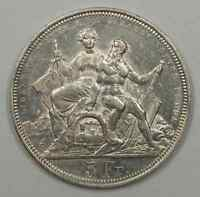 1883 Switzerland Lugano Shooting Festival 5 Francs Silver Coin (JA)