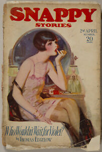 Vintage Spicy Pulp Magazine Enoch Bolles Flapper Cover Snappy Stories April 1926