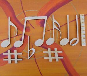Noten aus Holz 8 Teile 8 cm hoch Geschenke für Musiker Tisch oder Wanddeko 0808