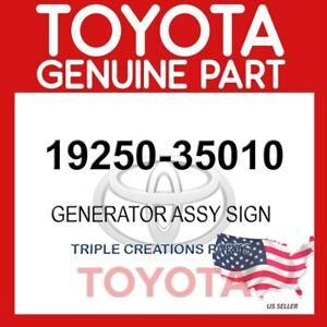 GENUINE Toyota 19250-35010 GENERATOR ASSY, SIGNAL 1925035010 OEM