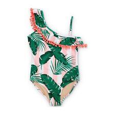 Shade Critters Botanical Swimsuit Pink Cabana Girl's Size 8 6030
