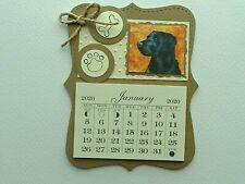 New ListingDog Lovers Black Lab 2020 Mini Magnetic Calendar Monthly Tear Off Pages