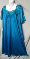 Anthony Richards  Green Nightgown Calf Length Short Sleeve Teal  3X GIFT 64""