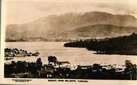 Hobart, From Bellerive, Tasmania Vintage (1925) RPPC Real Photo Postcard