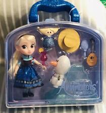 "Disney Store Animators Collection  FROZEN 5"" Elsa Doll & Olaf Play set  NEW"