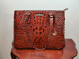 NWT New Brahmin Handbag Medium Irene Tote Bag in Pecan Melbourne Style