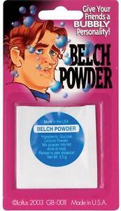 Belch Belching Powder Classic Prank Joke Gag Gift 1 Packet