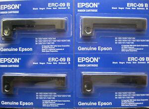 4 Stück Epson Farbband ERC 09 ERC-09 Schwarz/ Originalfür M-160 /160K/163/164/18