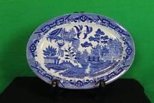 "Vintage Decorative Ceramic 12 3/8"" x 9""  Blue Onion Japanese Serving Plater"
