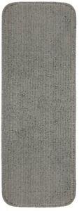 9 in. x 26 in. Non-Slip Stair Tread Cover Stain Resistant, Dark Grey (Set of 13)